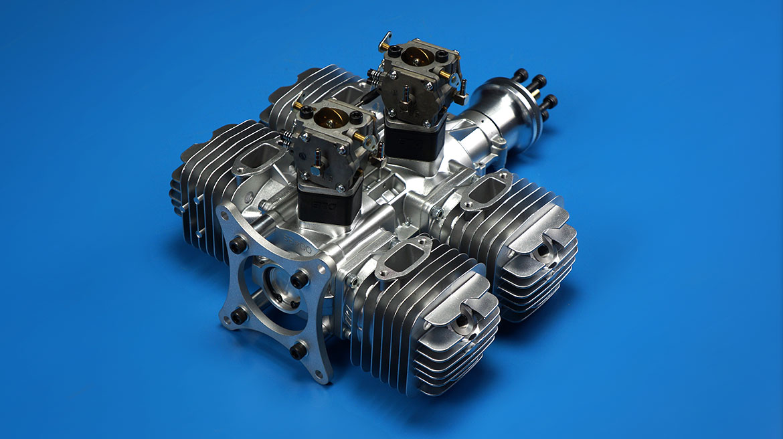 DLE222航模汽油发动机四缸侧排气自然风冷