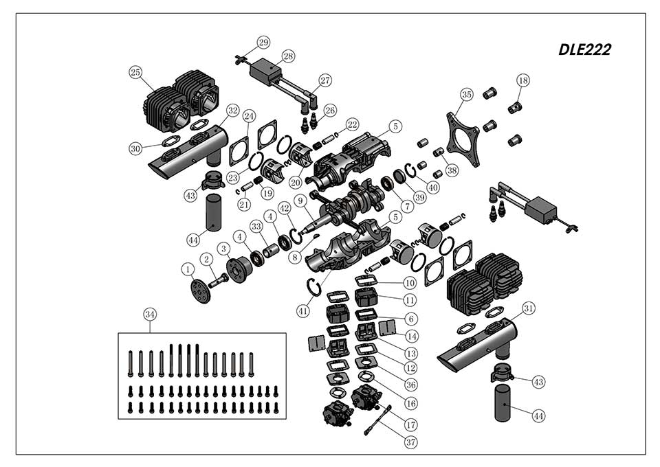 DLE222爆炸视图